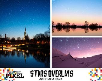 STARS OVERLAYS, PHOTOSHOP Stars, Digital Stars, Night Stars, Photoshop Overlay, Photoshop Overlays, Star Overlay, Night Sky, Night Skies