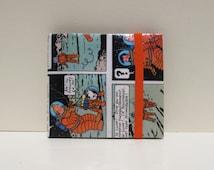 Upcycled Paper Wallet | French Edition Tintin | Bifold | Slim | Vegan | Handmade