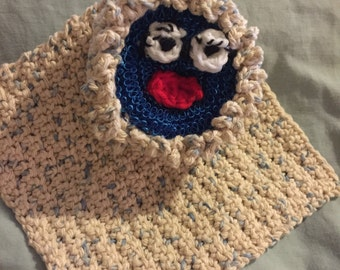 Novelty scrubby with dish cloth