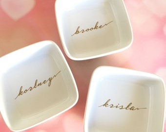 Bridal Party Ring Dish // Wedding Dish //  Gifts for Her// Custom Jewelry Dish// Ring Dish// Personalized Jewelry Dish