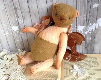 """OOAK Teddy bear vintage """"Favorite"""", 8 inch"""