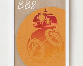 BB8 ornament wall art decor colorful poster