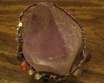 Wire art beaded bracelet