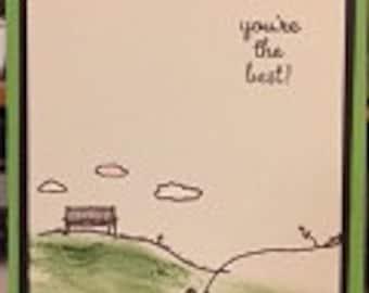 Encouraging Breezy Kite Card