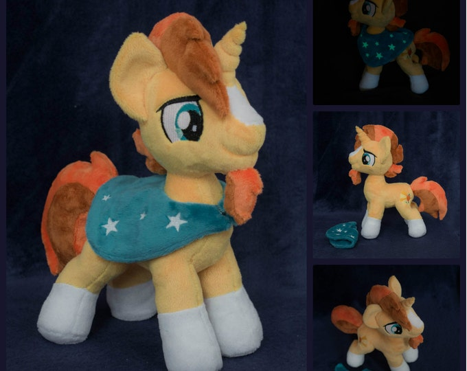 Unicorn Sunburst glowing stars mantle Custom plush 11 inches My little pony