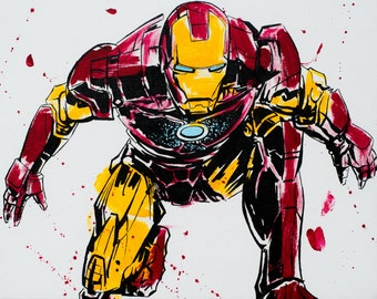 iron man marvel super hero avenger art print