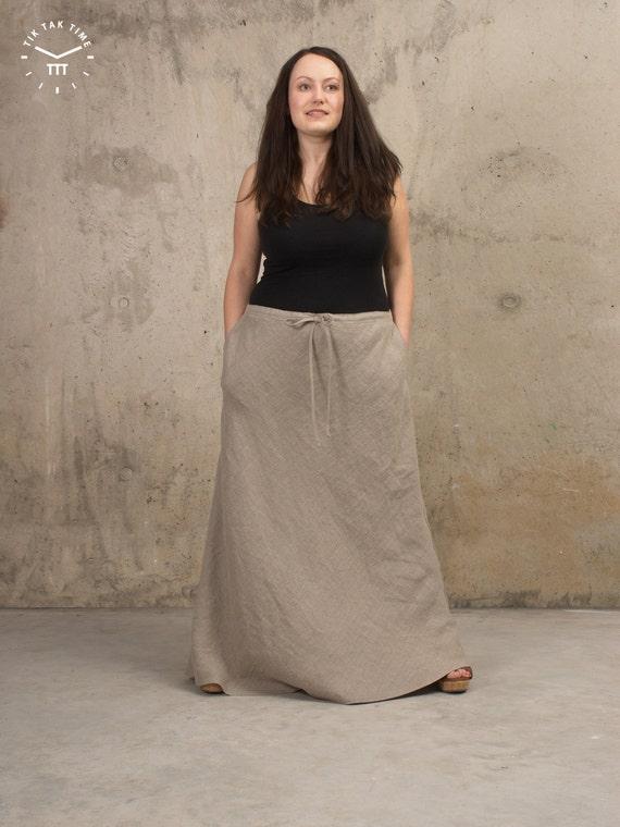 womens linen clothes maxi skirt linen by tiktaktimelinen