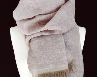 Cotton & linen blend scarf