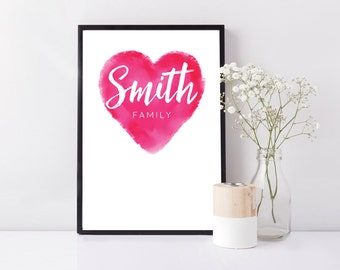 Personalised Handmade Framed print - Family / Gift / Birthday / Anniversary / Home