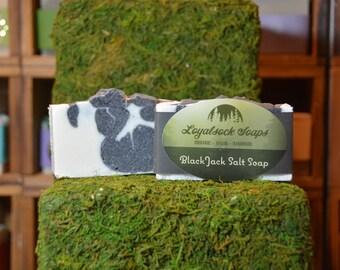 Black Jack Salt Soap - organic, handmade, all natural, cold process,