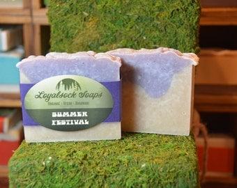 Summer Festival Soap - organic, handmade, all natural, cold process, vegan