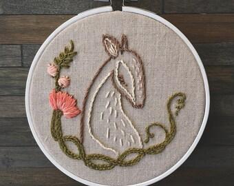 Woodland Deer Handmade Hoop Embroidery. Embroidery Hoop Art. Wall Art. Nursery Decor. Baby Shower Gift.