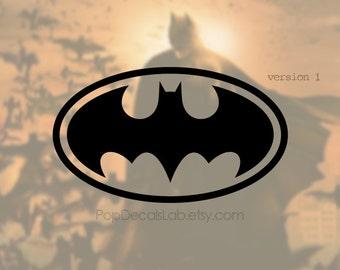 Traditional Batman logo decal - Batman sticker vinyl decal - wall car macbook decal- laptop sticker - made in USA - PopDecalsLab