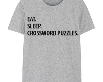 Crossword Puzzle T-Shirt, Eat Sleep Crossword Puzzle shirt Mens Womens Gifts - 1200