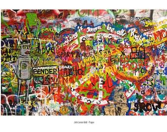 Postcard_044 - John Lennon wall, Prague (Czech Republic)