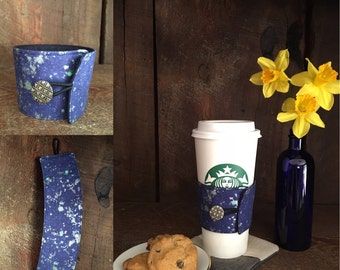 Coffee cup cuff, cup sleeve, insulated coffee cup holder, coffe cozy