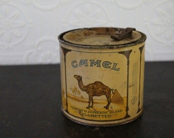 Vintage Camel 100's Cigarette Tin Can (1930's-1940's)