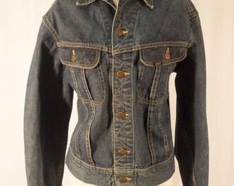 Vintage 1970s Jean Jacket/Vintage Lee 101-J denim jacket/Men's jean jacket/70s LEE 101-J Jean JACKET /