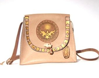 Nomadic Yellow Shoulder Bag, Traditional style, Historical, Mongolian bag