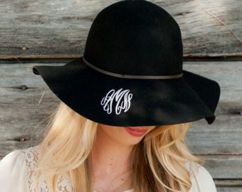 Monogrammed Wool Hat/Gifts for her/Personalized Hat/Floppy Hat/Monogrammed Floppy Hat/Gifts/Floppy hat/Present/Personalized/Birthday Gifts