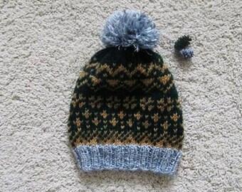 Warm, jacquard hat sor spring.