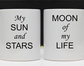 Sun and Stars, Moon of My Life Mugs Khal Drogo Daenerys Targaryen Mug Game of Thrones by njevgenijs