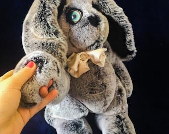 Bunny from real fur Rex rabbit