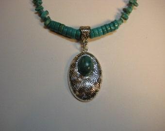 Retro Turquoise Necklace Set