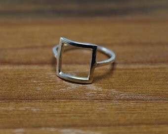 Sterling Silver Ring, Silver Ring, Square ring, Statement Ring, Ring,