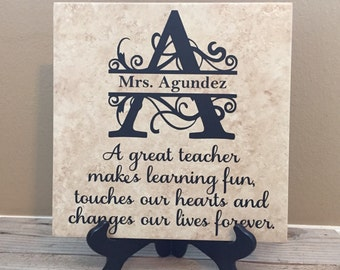 Personalized Teacher Gift, Teacher Gifts, Teacher, Teacher Appreciation Gift, Gifts for Teachers, Name Sign, Teacher Sign, Teacher, Teachers