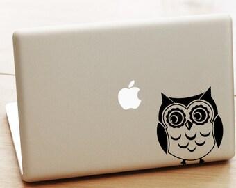 Owl Laptop Decal, Owl Macbook Decal, owl Laptop Sticker, cute MacBook Air Sticker, cool stickers, cute owl sticker, owl decal