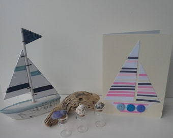 Drifting boat card