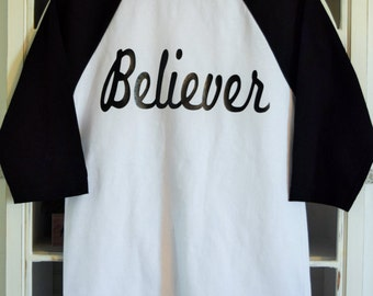Believer Raglan T-Shirt 3/4 Sleeve Length