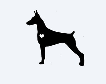 Love Doberman Pinscher  Car Decal