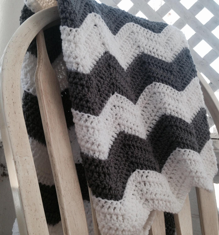Crochet Ripple Blanket Pattern Chevron Baby Blanket Crochet