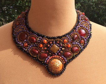 collar chest embroidered couture