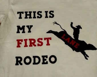 This is my first rodeo birthday shirt (FRONT AND BACK)