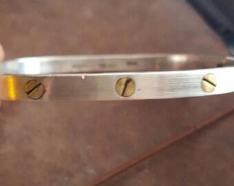 ON SALE Vintage Taxco Mexican Sterling Silver Bracelet - Estate Find