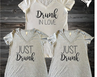 Brides Tribe Shirts Brides Bachelorette T ShirtsBridal Party shirts Just Drunk, Drunk In Love Wedding party shirt, bachelorette party shirts
