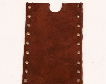 Brown distressed leather sleeve for Apple IPhone 5s case phone mobile