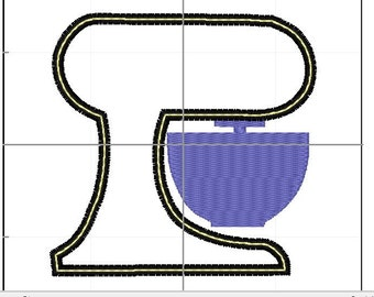 Kitchen aid mixer applique 4x4 5x7 6x10