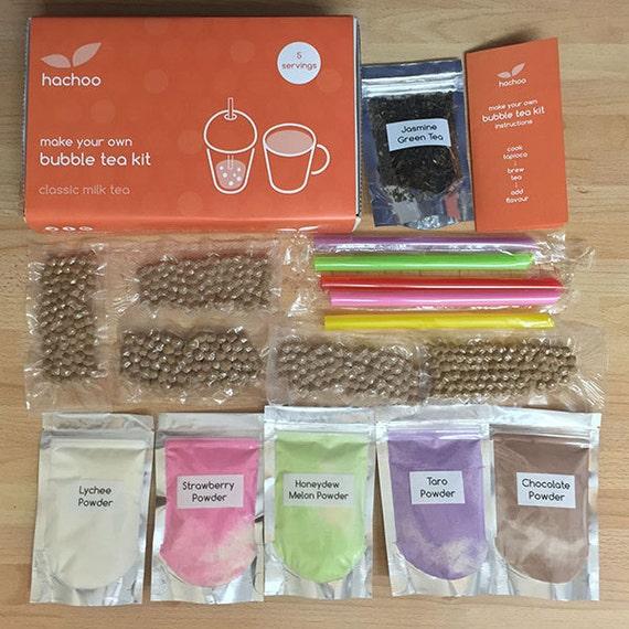 make your own bubble tea kit 5 flavours by hachoobubbletea. Black Bedroom Furniture Sets. Home Design Ideas