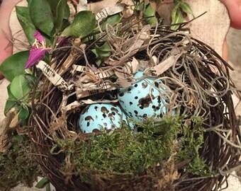 Nest ring bearer, ring bearer nest, wedding ring bearer, ring bearer, ring bearer pillow, ring bearer pillow alternative, ring bearer ideas,