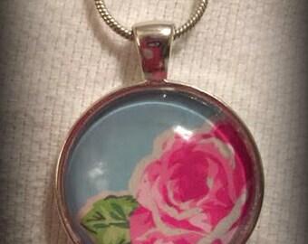 Rose pendant neckalce