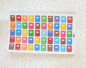 Planner sticers Rainbow coloured