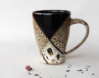 Big speckled brown mug 2, stoneware