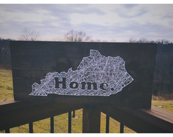 String art state, string art, string art heart, string art christmas, kentucky home decor kentucky home state string art kentucky string art