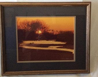 "Thomas Magnelsen ""Mallards at Sunset"" Limited Edition w/COA"