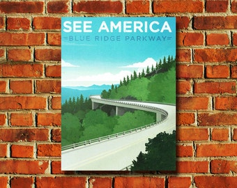 See America Blue Ridge Parkway Poster - #0656