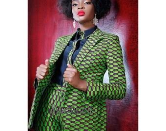 EnaGancio Women's Tailored Ankara Suit